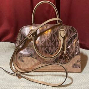 Rose Gold Michael Kors Satchel